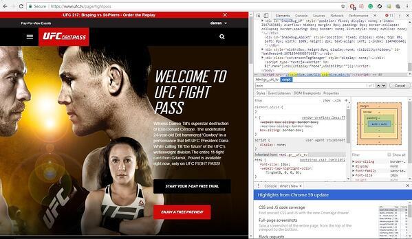 Cryptojacking code found on UFC fight pass