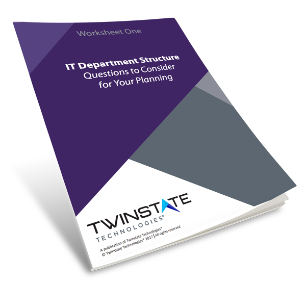 Download IT Department Structure Worksheet One Book